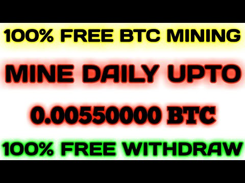 100% Totally Free Bitcoin Mining Website || FREE WITHDRAW or ZERO INVESTMENT || Mine Daily 0.0055BTC