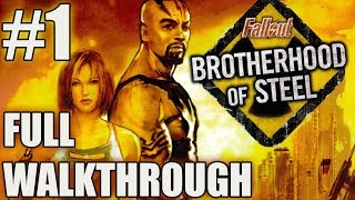 Fallout: Brotherhood of Steel walkthrough part #1 | PS2 Gameplay | Playthrough | PlayStation 2, XBOX