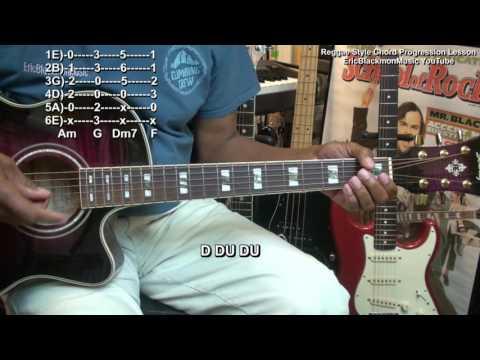 How To Play EASY Reggae Style Guitar Chord Progression In Am FunkGuitarGuru