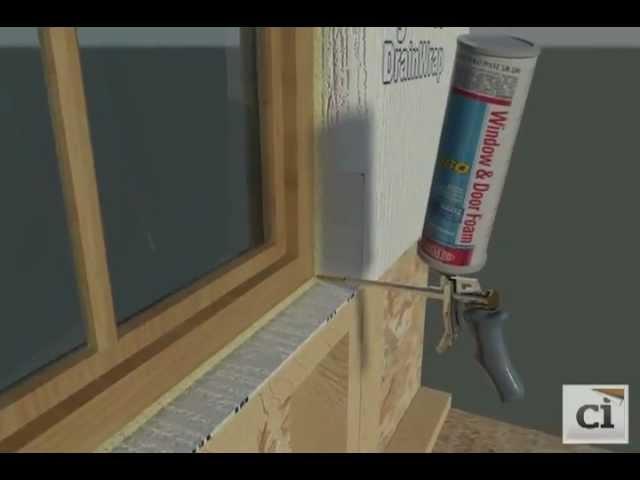 Interior Window Seal with Window and Door Foam | DuPont™ Tyvek®