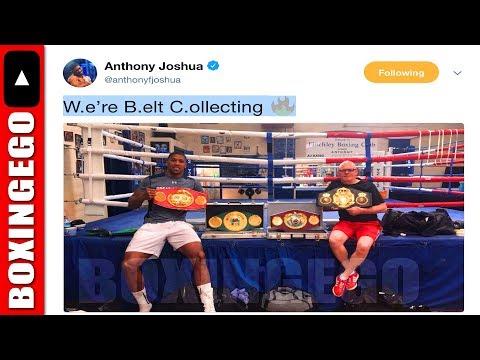 (HMMM!!!) ANTHONY JOSHUA LEAVES SNEAKY DEONTAY WILDER HINT! W.e're B.elt C.ollecting 🔥= WBC (BELT)