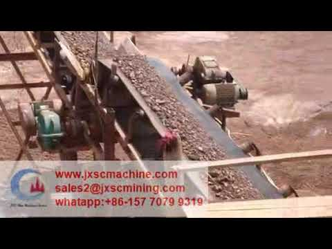 100TPH Indonesia Iron ore washing plant with log washer