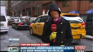 C5N - AEROLINEAS ARGENTINAS VOLVIO A VOLAR A NUEVA YORK