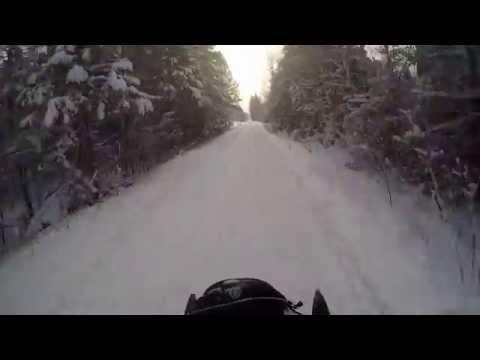 Trout Lake towards Newberry MI snowmobiling