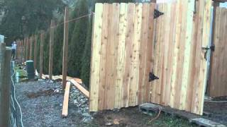 How To Build A Wood Fence In Under 3hrs