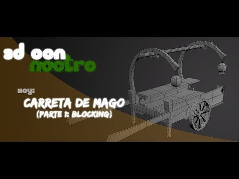 3D Carro y Assets Handpainted (Parte 1: Blocking)