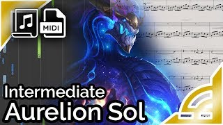 Aurelion Sol login theme (simplified) - League of Legends (Synthesia Piano Tutorial)