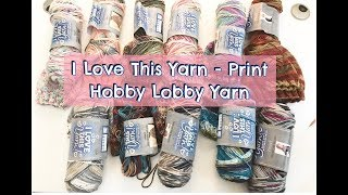 Knitted Beanies using I love This Yarn Print from Hobby Lobby