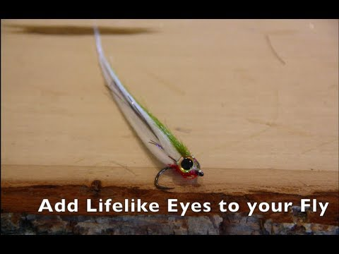 How to tie saltwater flies - Add Lifelike Eyes to your saltwater flies