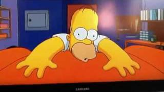 The Simpsons theme song and intro