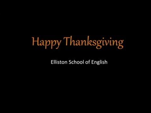 Thanksgiving celebration at Elliston school of English