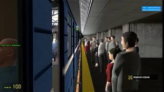 G.M-Metrostroi: После выезда из депо в НП направлении на станцию Минская:Следуем до Междуустройской.