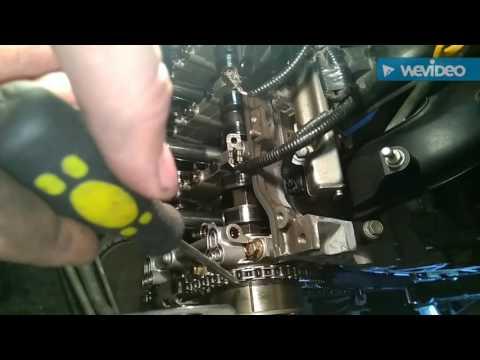 Фото к видео: Замена цепи грм на 3 zr-fe