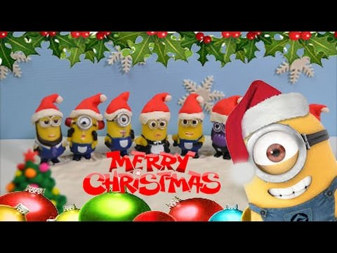 merry christmas minions dance jingle bells and we wish you a merry christmas stop motion youtube - Minion Merry Christmas