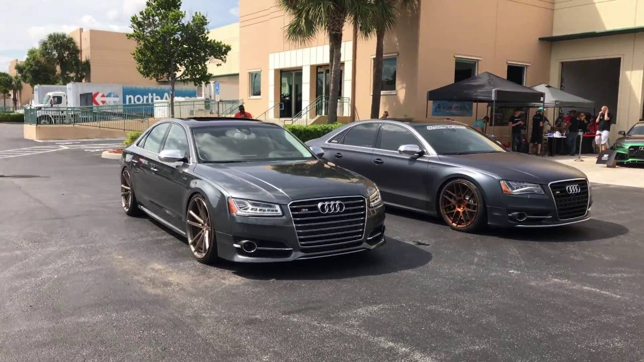 2015 audi s8 vs 2013 audi s8 comparison walk around at dipcon 4k youtube. Black Bedroom Furniture Sets. Home Design Ideas