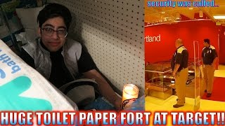 HUGE TOILET PAPER FORT AT TARGET!! (SECURITY WAS CALLED)
