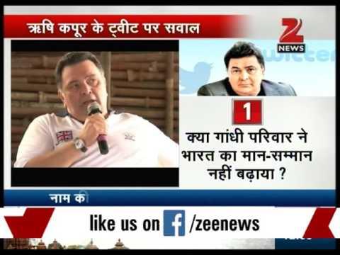 Rishi Kapoor attacks congress