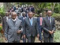 President Kenyatta holds private talks with Presidents Kagame and Museveni