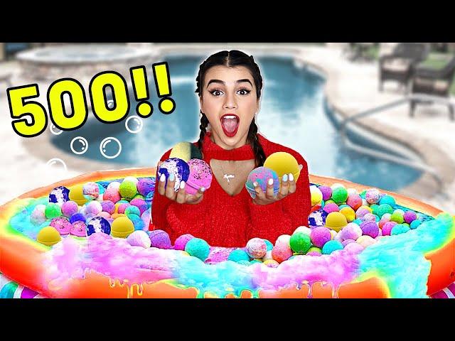 حطيت 500 باث بومب في المسبح | وسبحت فيه ! 😭