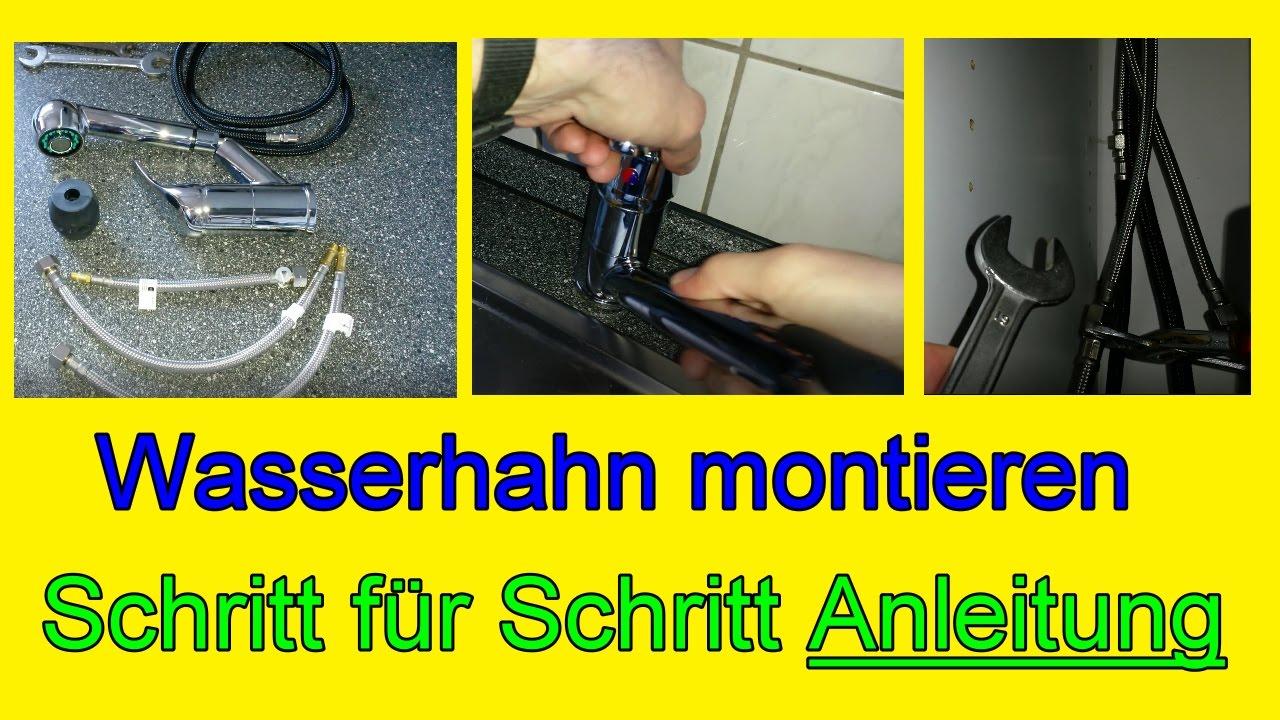 Wasserhahn einbauen Küche - Küchenarmatur montieren / Schritt für ...