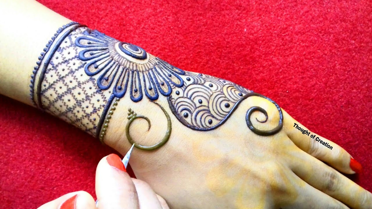 Stylish Simple Mehndi Design For Backhands Thought Of Creation