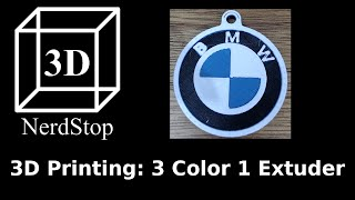 3D Printing: 3 Color 1 Extruder