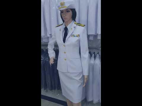 ชุดปกติขาวหญิง ชุดข้าราชการ
