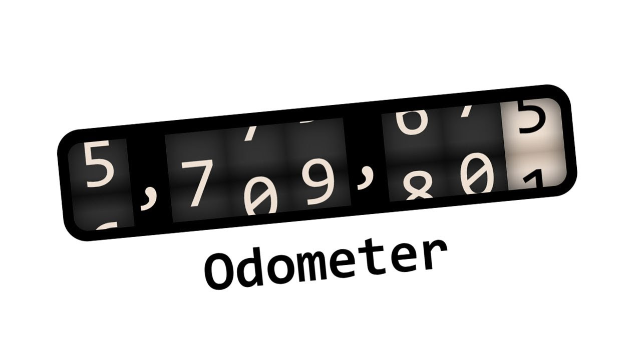 Odometer Number Counter using Html CSS and Javascript