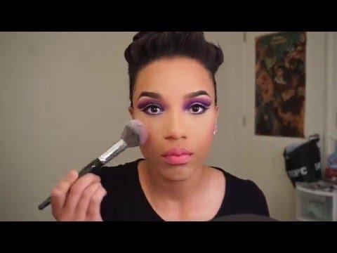 prince tribute purple rain inspired makeup tutorial
