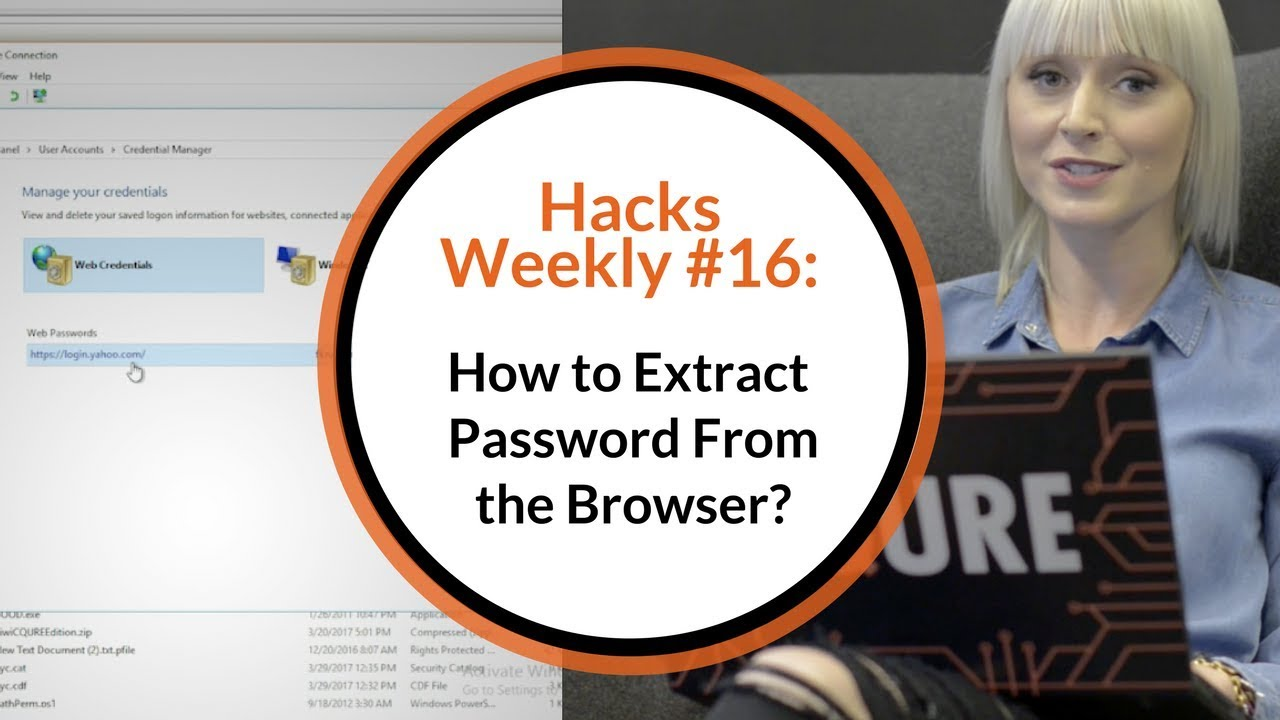 How to extract password from the browser? | CQURE Academy