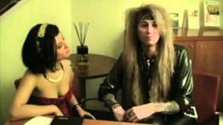 Steel Panther interview with super-sexy Erzsebet Suicide in Milano - March 2012