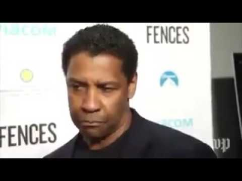 Denzel Washington breaking down the news