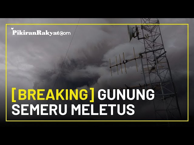 [BREAKING] Bencana Alam Kembali Terjadi, Gunung Semeru Meletus, Warga Waspadai Awan Panas