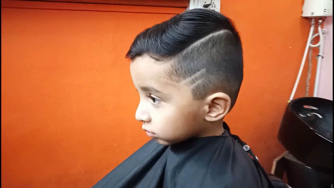 One Side Hair Cut kids hair style new hair cut
