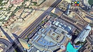 Burj Khalifa Pinnacle Panorama - 360 degree image