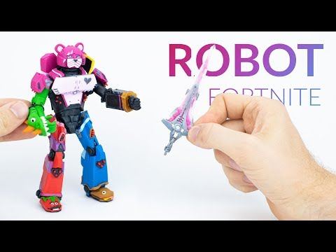 MAKING The ROBOT With CLAY!! Mecha Team Leader (Fortnite Battle Royale) – Polymer Clay Tutorial