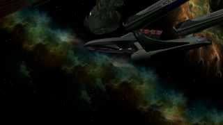 Star Trek: Blender animation USS Excelsior vs Klingons