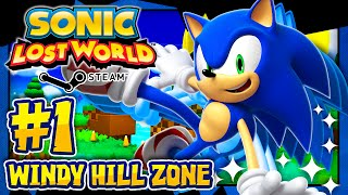 Sonic Lost World PC - (2K 60FPS) Part 1 - Windy Hill COMPLETE