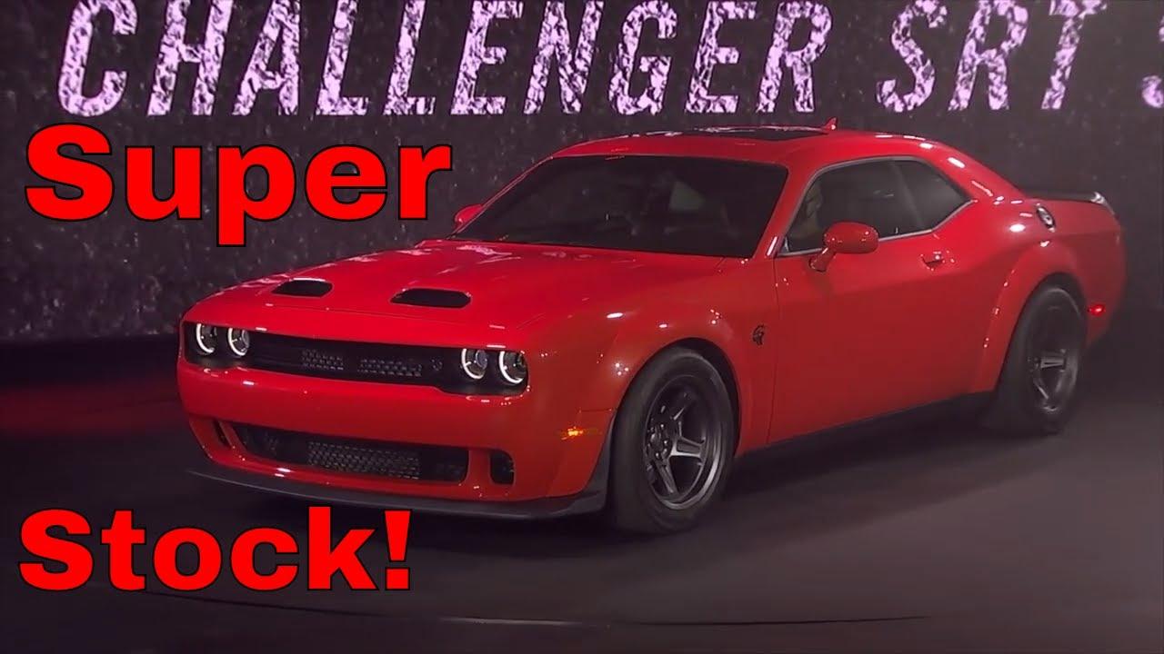 2021 dodge challenger srt super stock revealed!! - youtube