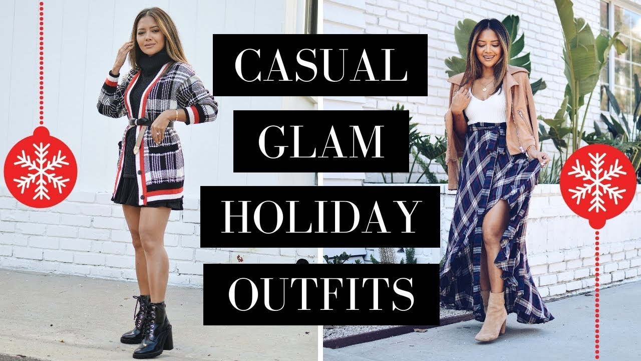 fc6d0f5e0a7ae Casual Glam Holiday Outfits 2018 - YouTube