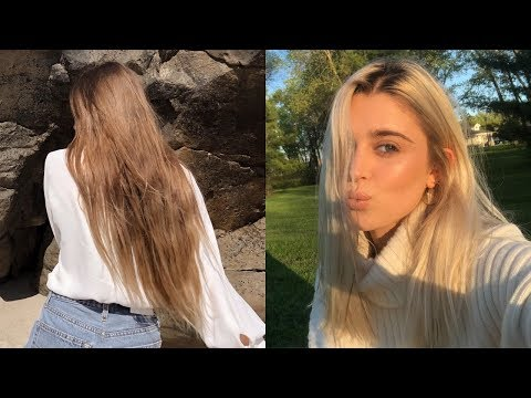 from BRUNETTE to PLATINUM BLONDE ♡ EXTREME Hair Transformation from YouTube · Duration:  9 minutes 16 seconds