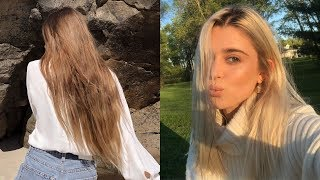 from BRUNETTE to PLATINUM BLONDE EXTREME Hair Transformation