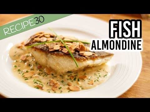 Crispy Skin Fish Almondine With Cream Sherry Sauce And Crunchy Almonds