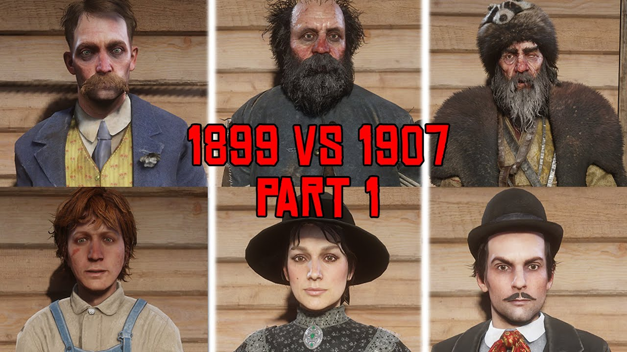 Download Red Dead Redemption 2 1899 vs 1907 Characters Changes Part 1