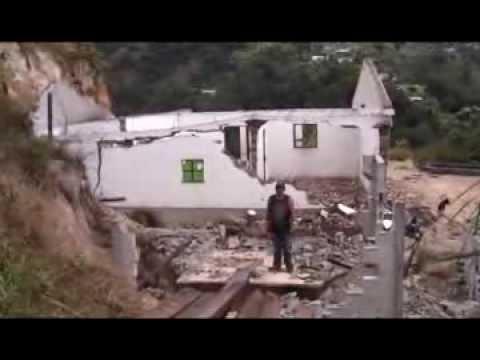 Viviendas en riesgo en San Sebastián H. debido a falla geológica