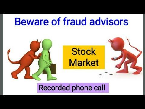 Recorded fraud call of stock advisor