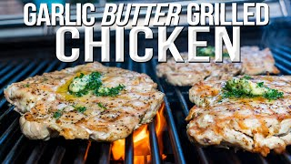 GARLIC BUTTER GRILLED CHICKEN | SAM THE COOKING GUY 4K