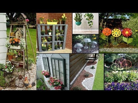 80 DIY Creative Ideas For Garden Decoration | Vintage Gardens Ideas