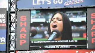 Pia Toscano National Anthem - New York Mets