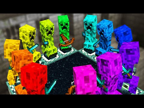 Minecraft but Creepers beat the game for me